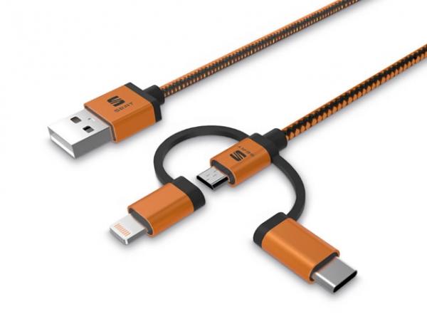 Şarj Ve Veriler İçin 3'ü 1 Arada Kablo