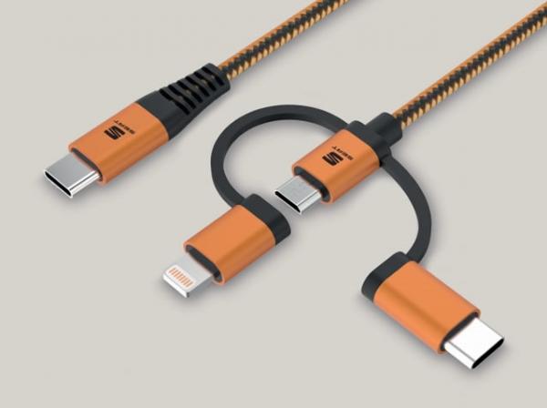 Şarj Ve Veri Usb Tip C İçin 3'ü 1 Arada Kablo